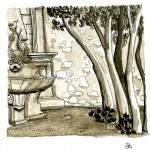 la fontaine du parc