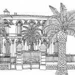 Marseille, Villa à Bagatelle - 40cmx30cm - feutre